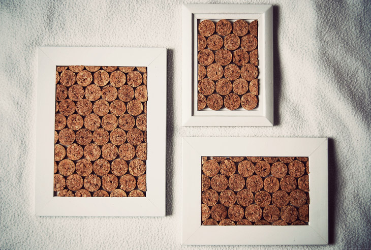 Rotkehlchen diy framed cork i love this material for Pinnwand selber machen kork