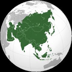 Asia: Localización Geográfica