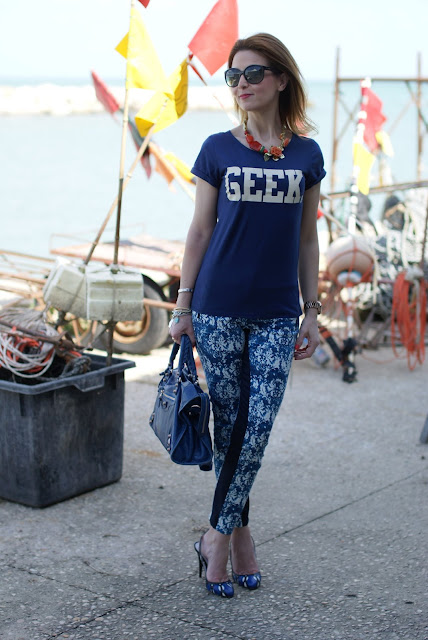 Geek t-shirt, Balenciaga cobalt blue, Fashion and Cookies