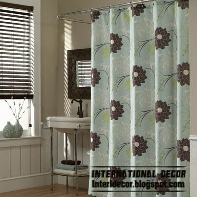 latest designs of shower curtains floral pattern