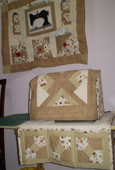 Pano e capa com toalha para Maquina de costura