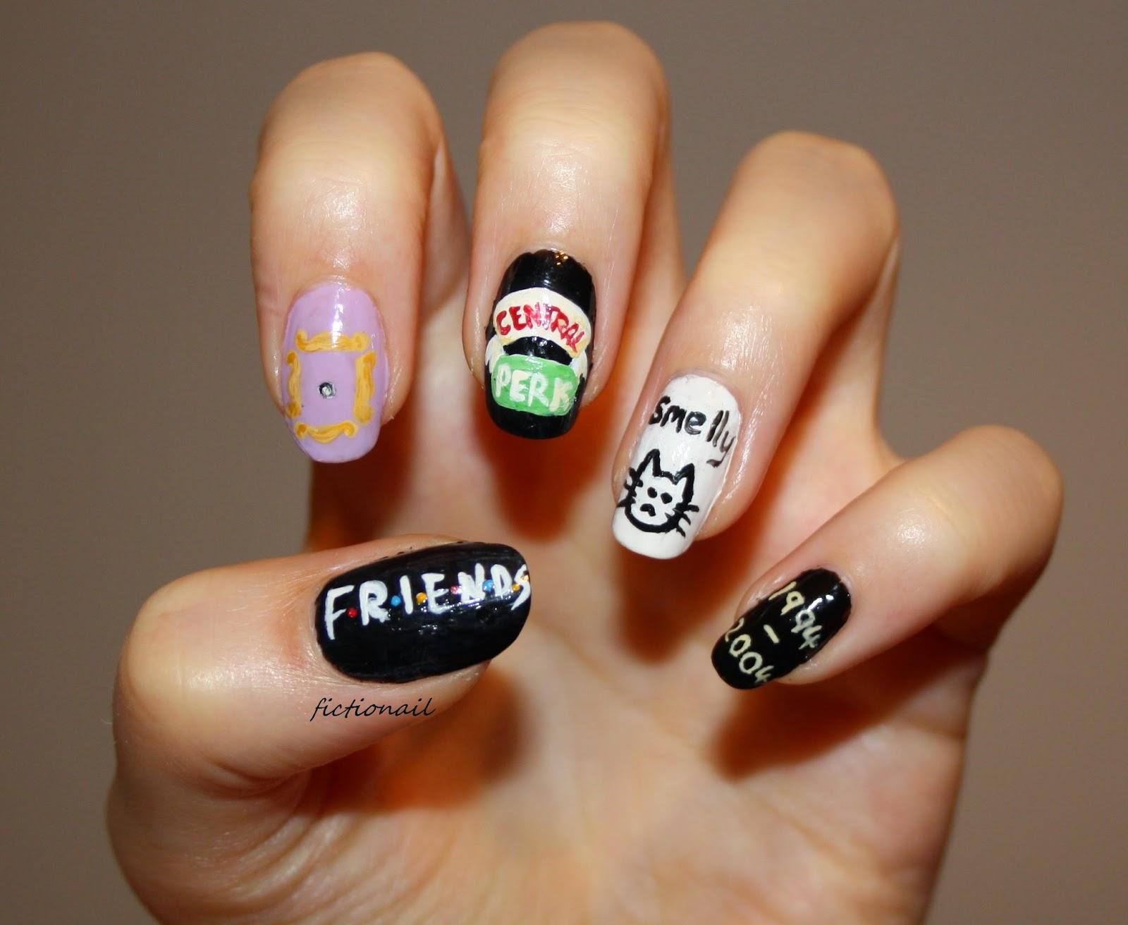 Friends nails friends tv show nail art prinsesfo Choice Image