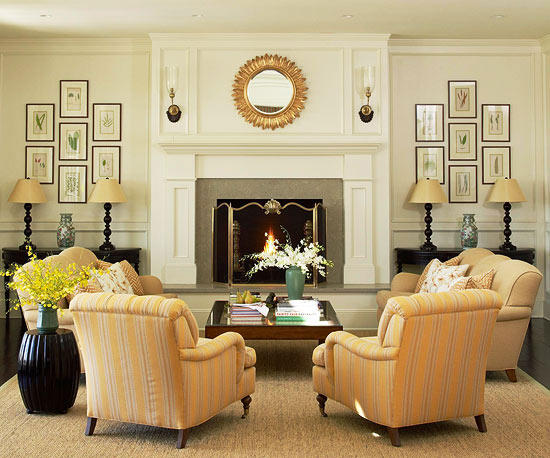 living room symmetry imposes a sense of order on the space