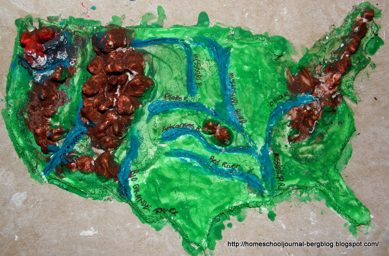 All Things Beautiful: Salt Dough Map of America