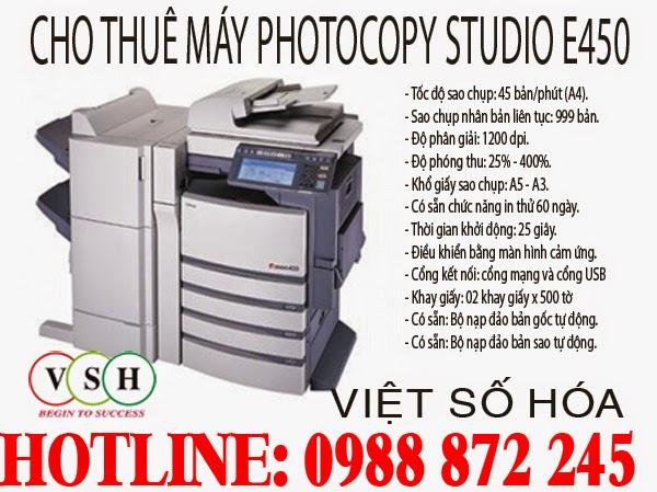 Cho thuê máy photocopy Toshiba e-Studio 450