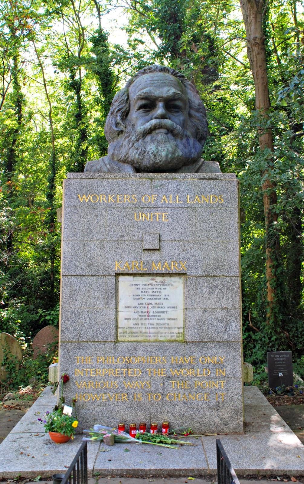 Karl Marx's memorial, Highgate Cemetery, London