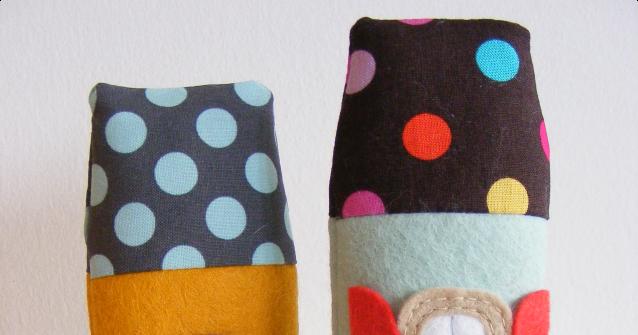 I manufatti cos for Polka dot felt fabric