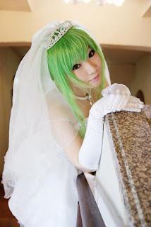 Tatsuya cosplay as CC from Code Geass