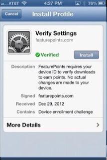install profile