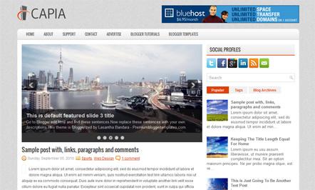Capia Blogger Template