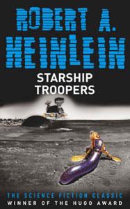 Portada americana de Tropas del espacio, de Robert A. Heinlein