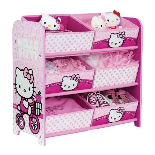 Meuble de rangement jouets hello kitty chambre de fille pas cher