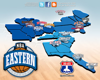 nba map, league, eastern conference