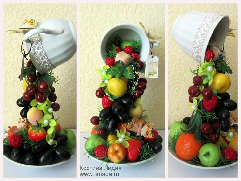 Поделки из искусственных овощей и фруктов фото 19
