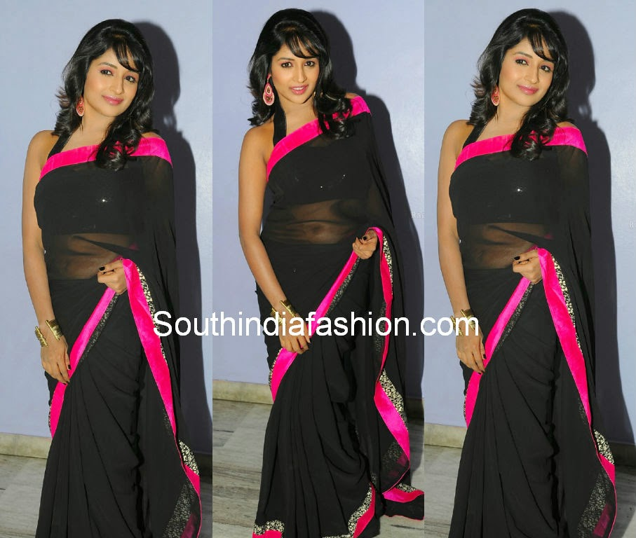 isha ranganath black saree