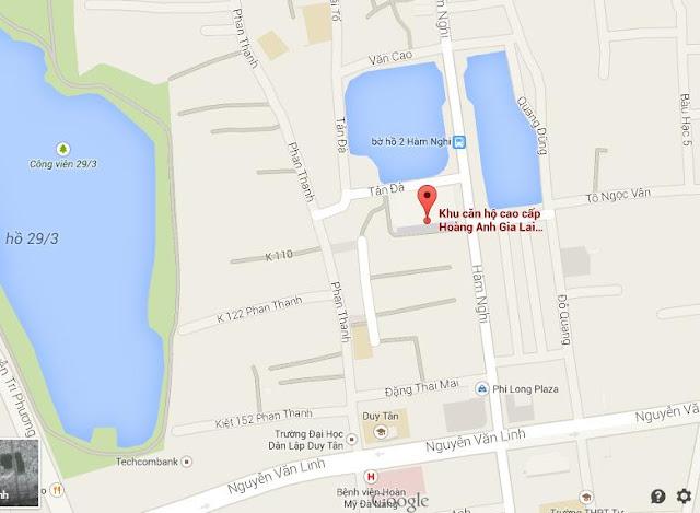 vị trí căn hộ Hoàng Anh Gia Lai Lakeview