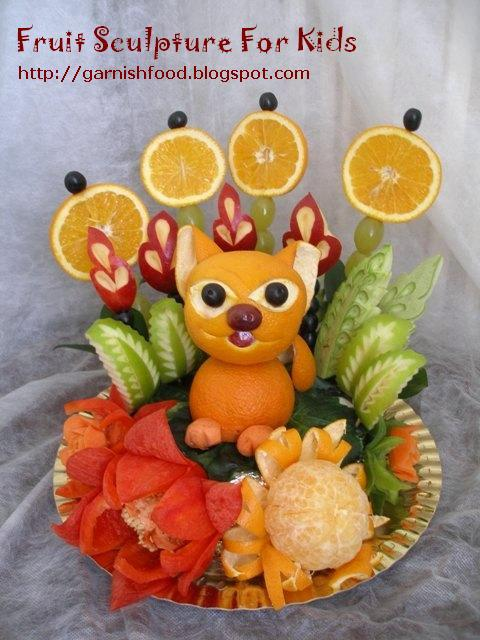fruit display for kids birthday