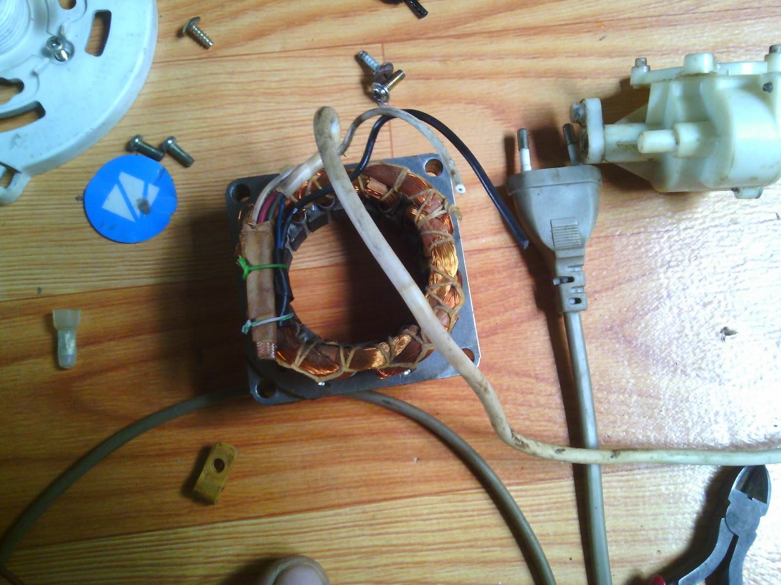 Service Elektronik Memperbaiki Kipas Angin Berdiri Stand Fan Mati Total