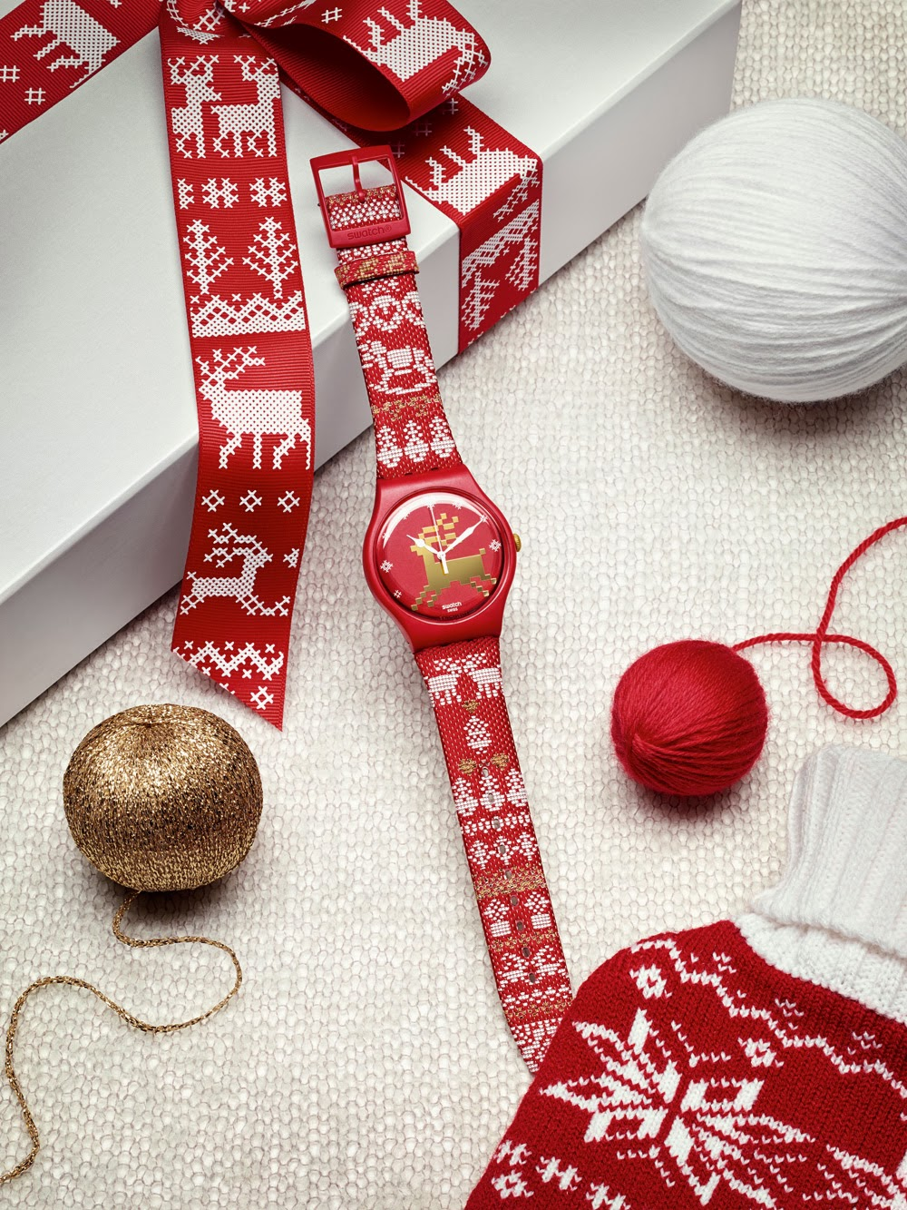 Swatch Red Knit Natal 2013