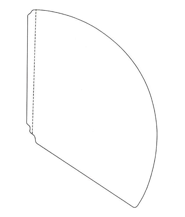 рисунком с из конус бумаги