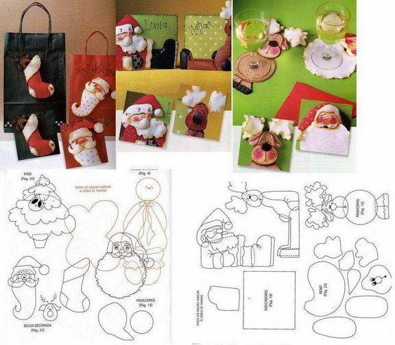 Artesanato De Natal Em Feltro Com Moldes ~ MOLDES NATAL FELTRO MOLDES ARTESANATO EM GERAL Bloglovin u2019