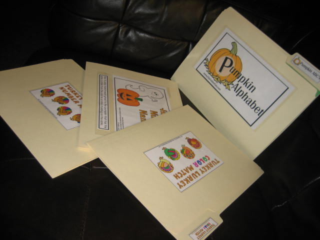 file folder games for fall halloween too - Halloween File Folder Games