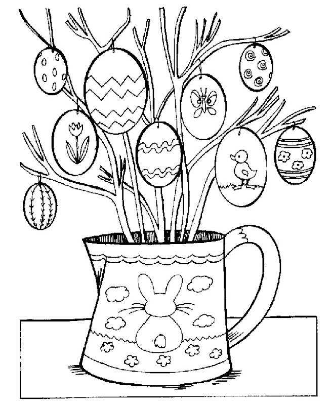 Easter Eggs Coloring Page title=