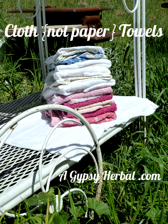 Cloth Towels not paper DIY