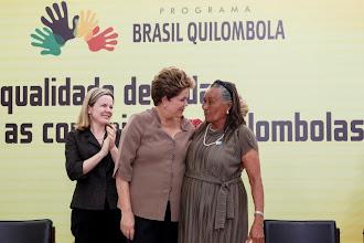 Zefa da Guia com a presidente Dilma