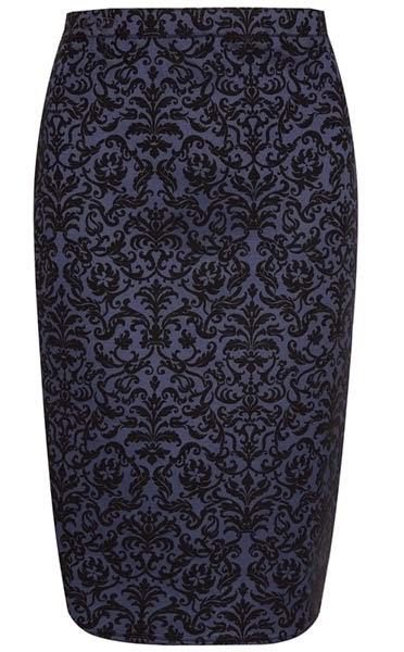 Primark online: falda de tubo con estampado barroco