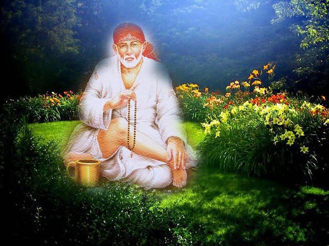Sai Baba Creative Painting HD Wallpaper
