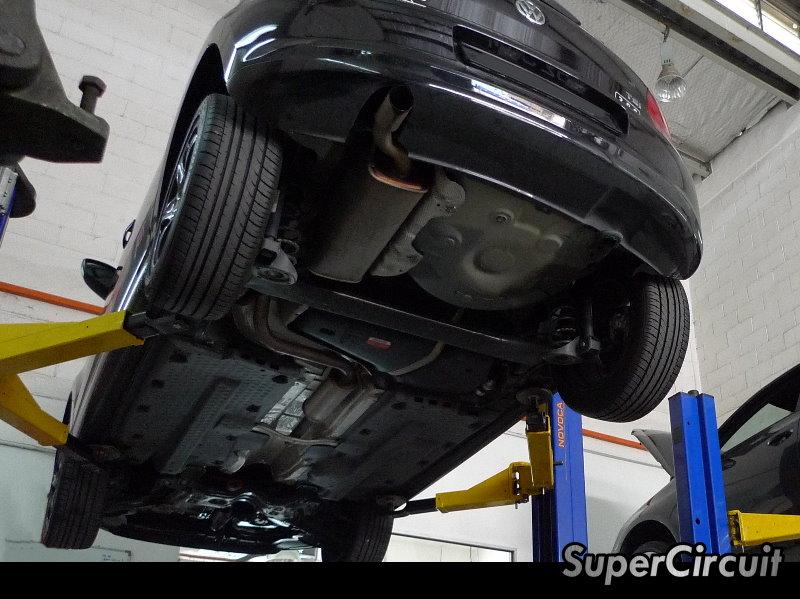 Vw Polo Supercircuit Downpipe Amp Cat Back on Vw 1 4 Tsi Engine