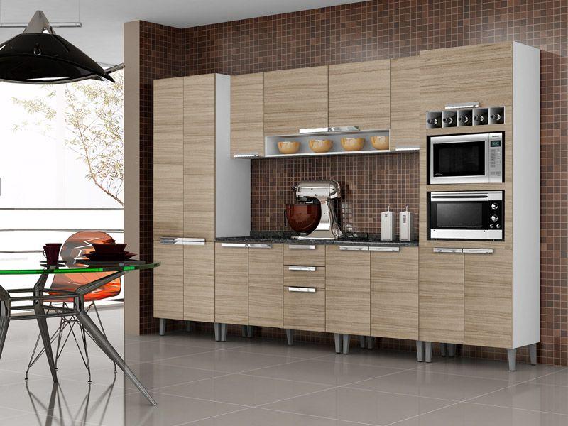 Cozinhas planejadas Armários de cozinha  Modelos lindos # Armario De Cozinha Ferreira Costa