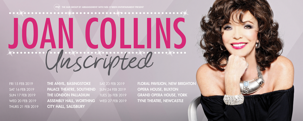 JOAN COLLINS UNSCRIPTED 2019