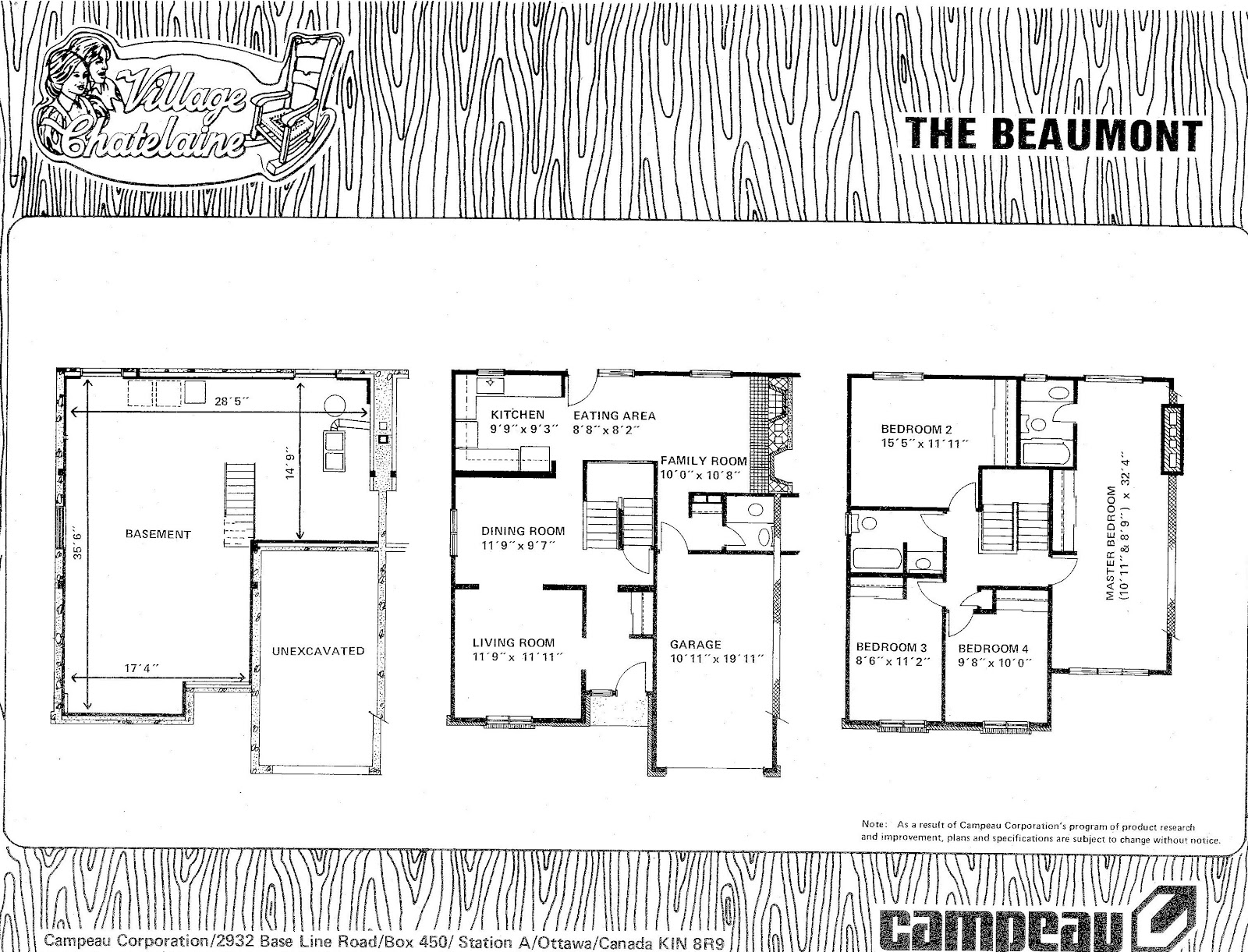 Campeau model homes