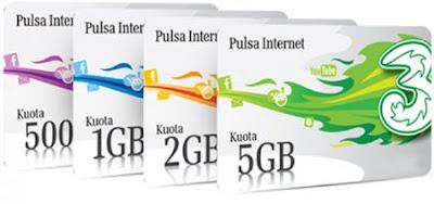 Cara Daftar Paket Internet 3 Three Unlimited