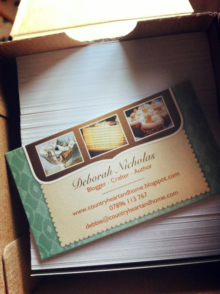 countryheartandhome Vistaprint Business Cards Blogger Style