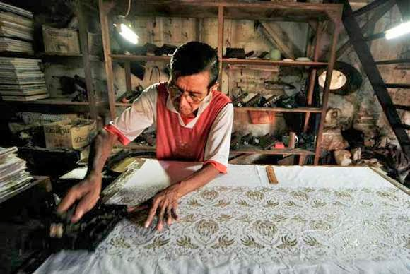 cara pembuatan batik cap