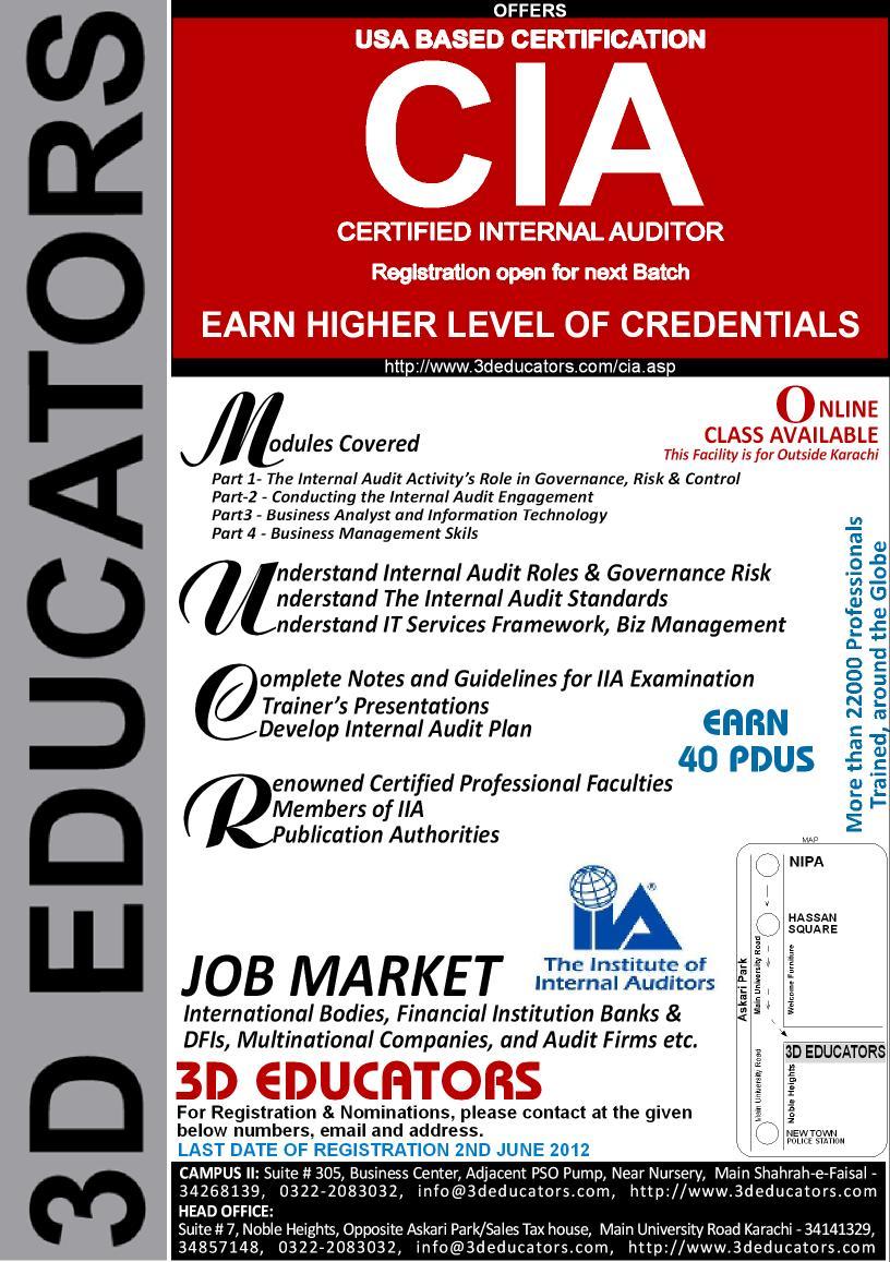3d Educators Training Courses In Karachi Certified Internal