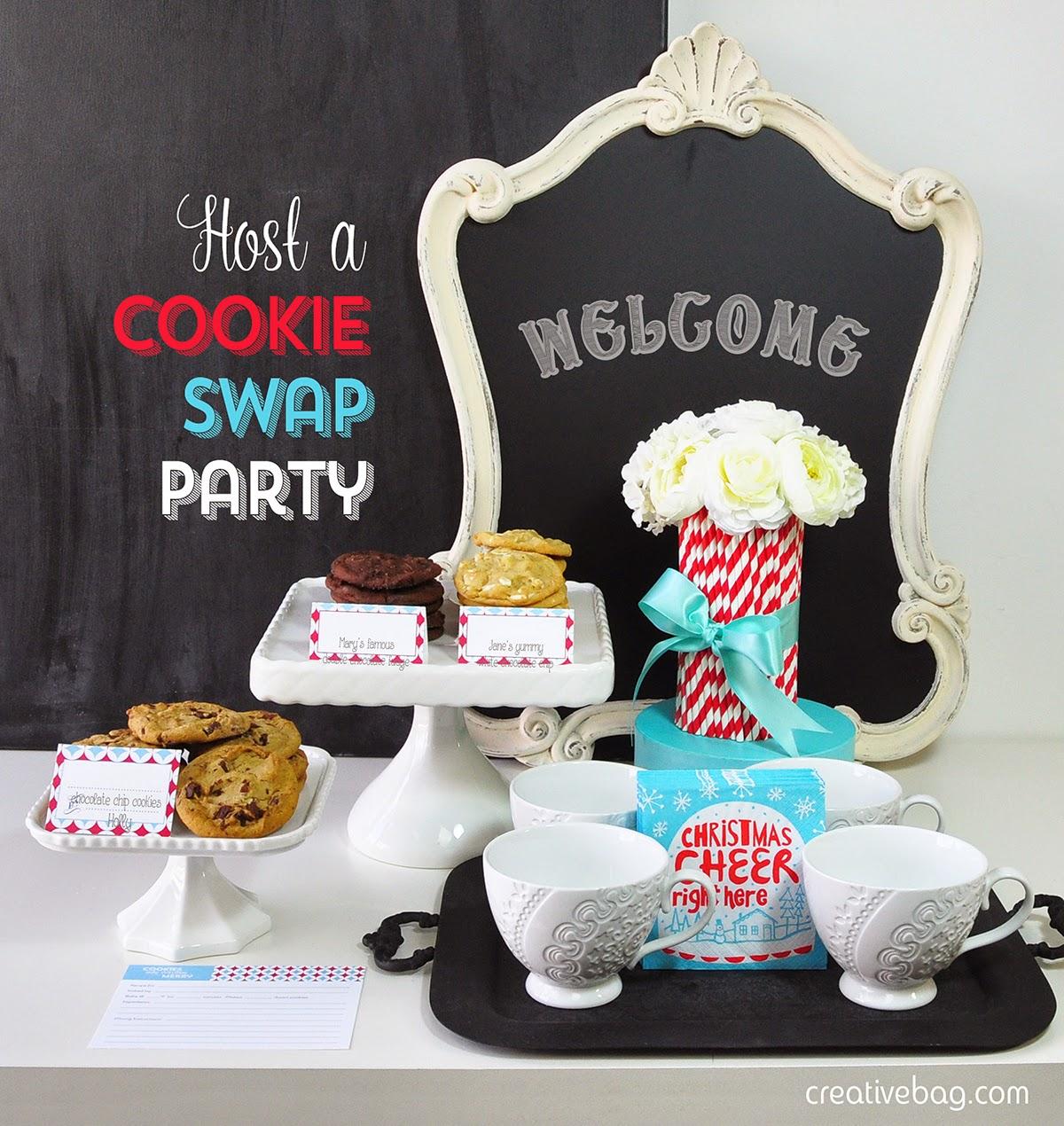 host a cookie swap party and free printables | creativebag.com