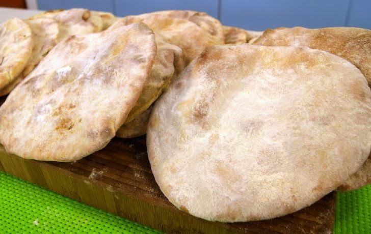Foto do pão Sírio feito no programa Dia a Dia