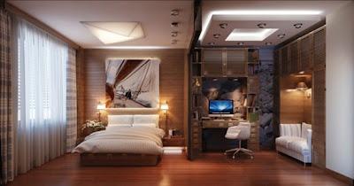 dormitorio panel madera