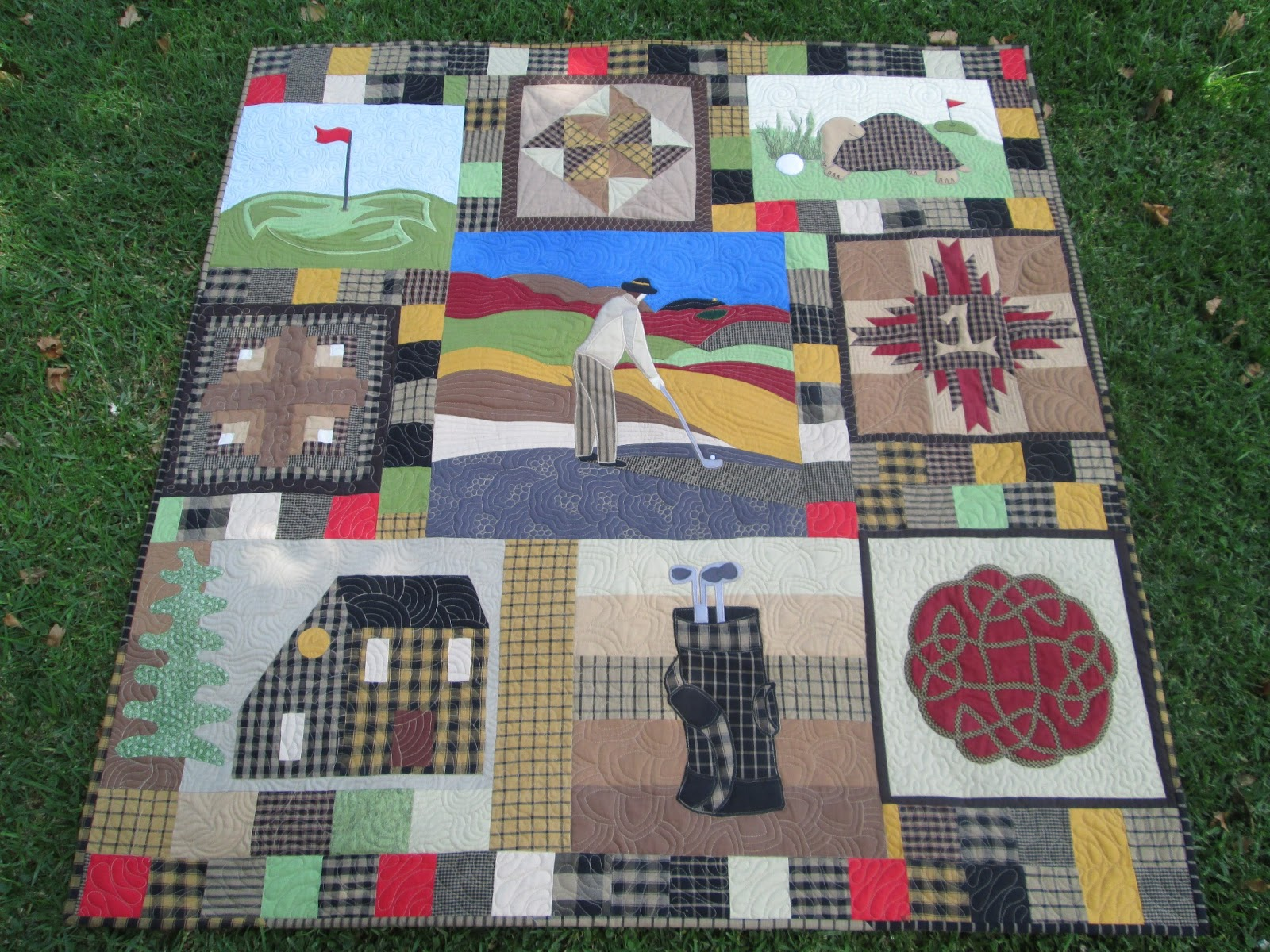Stitch by Stitch: Gone golfing... back maybe! : golf quilt patterns - Adamdwight.com