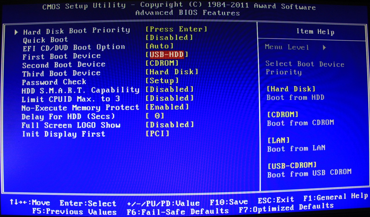 bios boot to os: