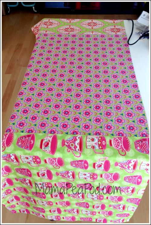 Sew your table runner fabrics together - so easy!