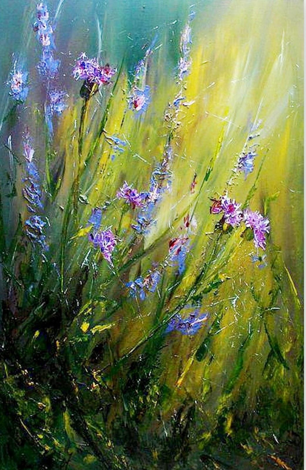 Cuadros pinturas oleos pintura moderna al leo flores - Cuadros modernos con mucho color ...