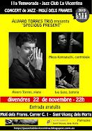 PROPERS CONCERTS: Álvaro Torres Trio, 22 de novembre de 2019