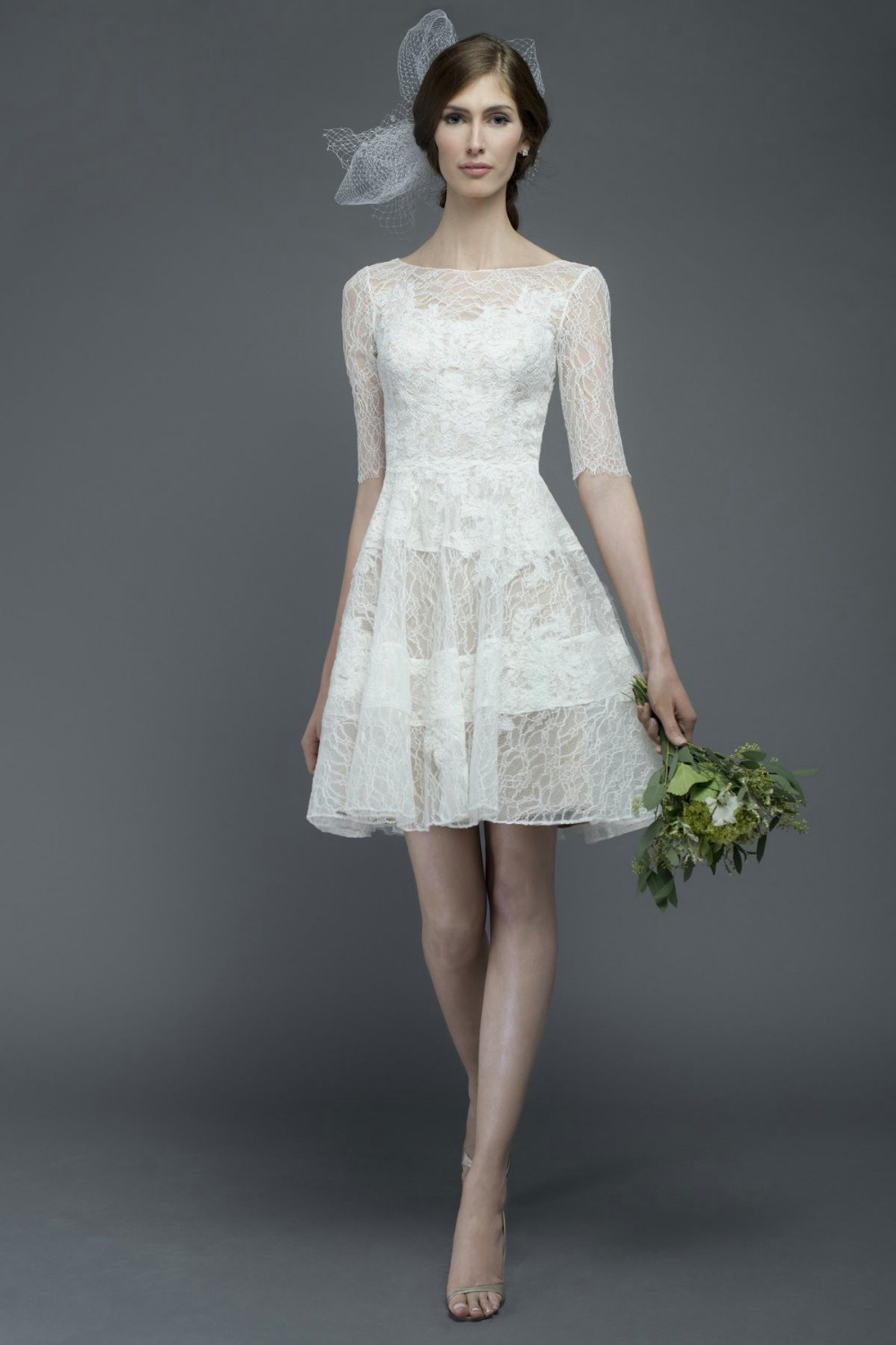 Elegant simple short wedding dresses for Simple elegant short wedding dresses