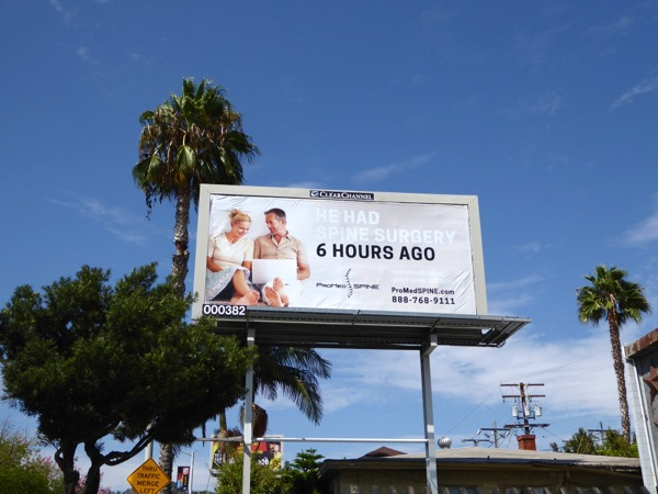 Spine surgery billboard