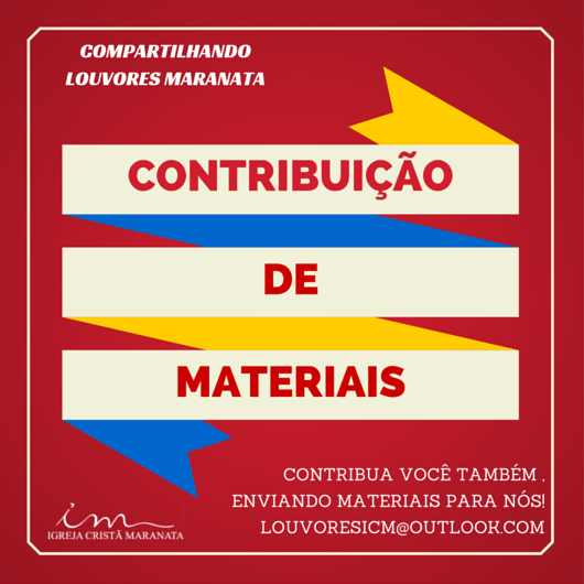 CONTRIBUIÇÃO DE MATERIAIS